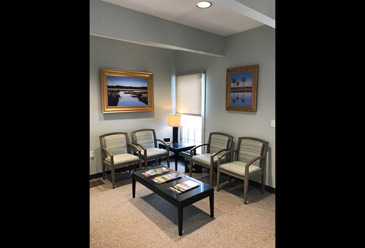 Dental office waiting area